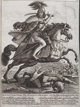 Croats (military unit) - Nikola Zrinski in a battle against the Ottomans