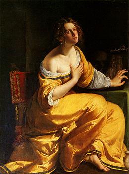La  FEMME  dans  l' ART - Page 3 260px-Artemisia_Gentileschi_Mary_Magdalene_Pitti