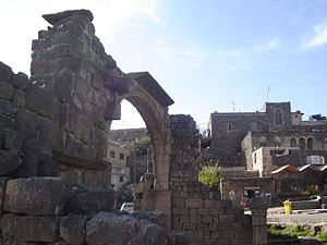 As-Suwayda - The arch of the lesser church