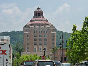 Asheville, North Carolina - Asheville City Hall; Designed by Douglas Ellington, this building epitomizes the Art Deco style of the 1920s