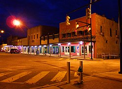 1st Street at dusk; Ashland, Alabama