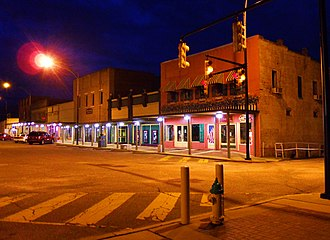 Ashland, Alabama - 1st Street at dusk; Ashland, Alabama