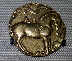 Ashvamedha - An Ashwamedha coin of Kumaragupta, who performed the sacrifice in 5th century CE