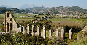 Eurymedon Bridge (Aspendos) - The pressure conduit of the Aspendos aqueduct