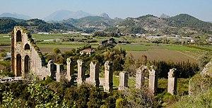 Eurymedon Bridge (Aspendos) - The pressure conduit of the Aspendos aqueduct