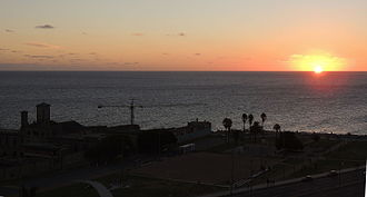 Barrio Sur, Montevideo - View at sunset in Barrio Sur