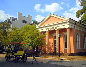 Alexandria Historic District - Old Dominion Bank Building, now an art gallery called The Athenaeum, in Old Town