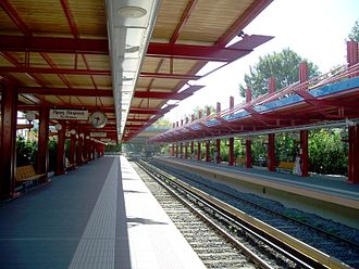 Moschato metro station - Moschato station platform