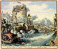 Atlas Van der Hagen-KW1049B10 051 2B-t Veroveren en ruineeren van Tabor, Leopold-stad en den Donauer pasbrug door de Turken = Prise de Tabor, Leopoldstat, et du pont sur le passage du Donau ruinees par les Turcqs.jpeg