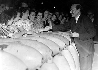 Clement Attlee - Attlee as Lord Privy Seal, visiting a munitions factory in 1941
