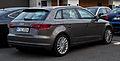 Audi A3 Sportback 2.0 TDI Ambition (8V) – Heckansicht, 11. August 2013, Wuppertal.jpg