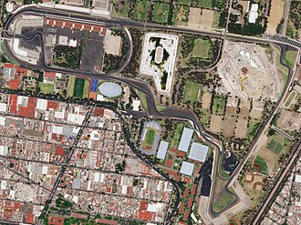 Autódromo Hermanos Rodríguez - Satellite view of the circuit, as it appeared in 2018