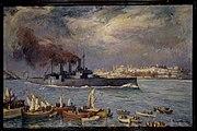 Averof painting 1919 Bosporus