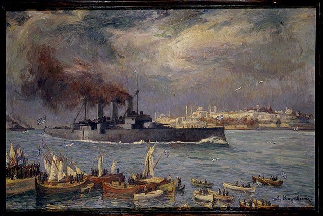 Averof painting 1919 Bosporus