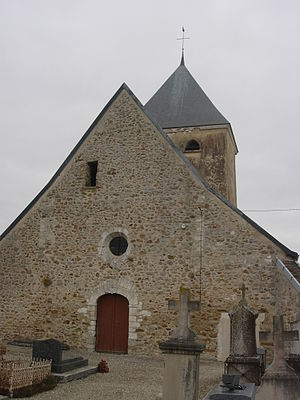 Avon-la-Pèze - Image: Avon la Pèze église extérieur