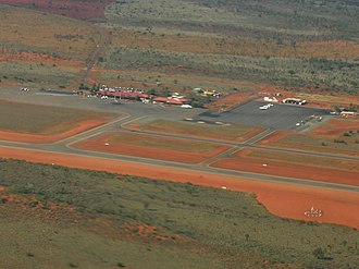 Ayers Rock Airport - Image: Ayers Rock Airport (aerial view)