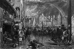 Ayr - Ayr Market Cross in 1810