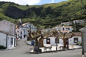 Lajes das Flores - A view of center of the village of Fajãzinha