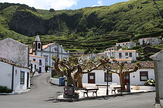 Lajes das Flores - A view of center of the village of Fajãzinha