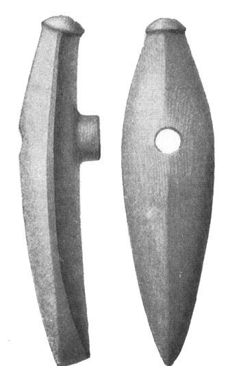 Ukko - Corded Ware culture boat-shaped battle axe from Närke, Sweden.