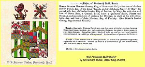Bentworth Hall - Horman-Fisher family Crest and notes