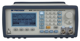 Arbitrary waveform generator - The BK Precision model 4078 Dual Channel Arbitrary Waveform Generator uses direct digital synthesis to generate waveforms up to 400,000 points