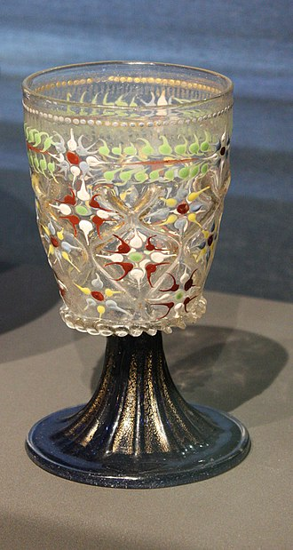 Enamelled glass - Image: BLW Goblet