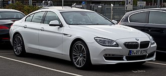 BMW 6 Series - Image: BMW 640d Gran Coupé (F06) – Frontansicht, 23. September 2012, Düsseldorf