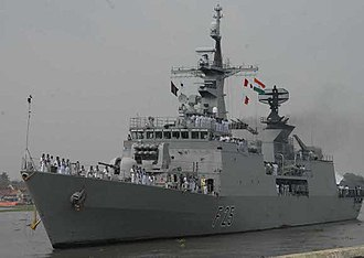 Bangladesh Navy - Image: BNS Bangabandhu berthing at Kochi in 2011