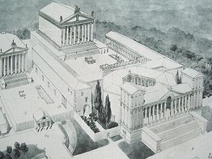 Phoenicia under Roman rule - The layout of the Temple complex of Baalbek (Roman Heliopolis)