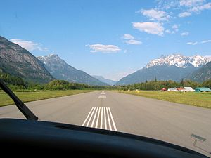 Bella Coola Airport - Image: Backtracking Bella Coola (165430320)
