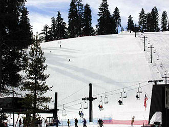 Badger Pass Ski Area - Image: Badger pass slopes 3