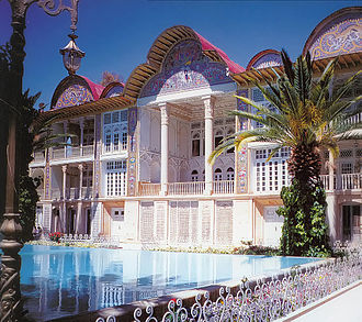 Persian gardens - Eram Garden is a famous historic Persian garden in Shiraz, Iran
