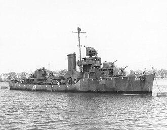 USS Bagley (DD-386) - Image: Bagley DD386