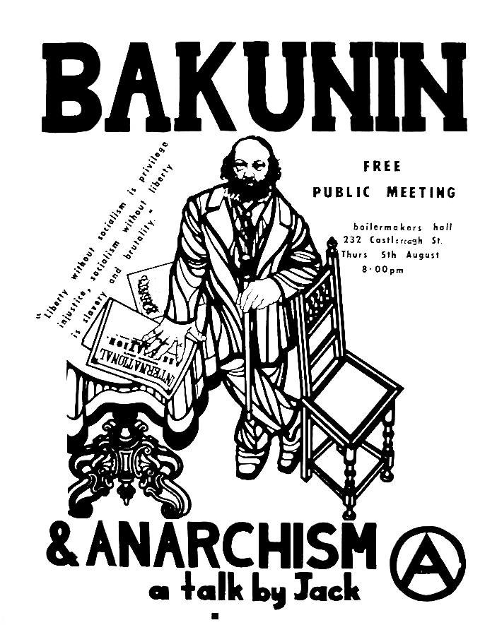 Bakunin and Anarchism poster