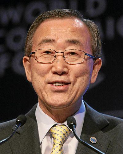Sekretaris Jenderal Perserikatan Bangsa-Bangsa, Ban Ki-moon.