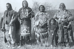 Members of the Bannock tribe. The Bannock led a raid on the Latter-day Saint mission of Fort Limhi in February 1858. The raid was probably instigated by members of the Utah Expedition who were trying to replenish their supply of horses and cattle.