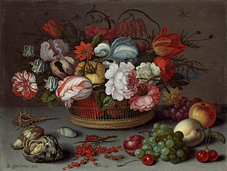 Balthasar van der Ast - Image: Basket flowers 1622