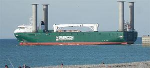 Enercon - E-Ship 1 leaving Dieppe