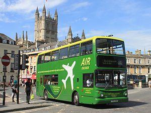 Bath Bus Company - Alexander ALX400-bodied Volvo B7TL on an 'Air Decker' service in Bath in 2015