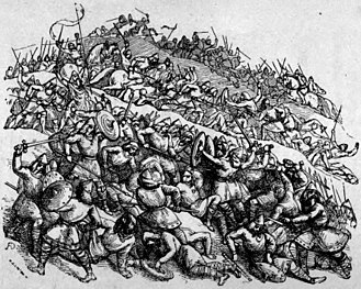 Bagsecg - A nineteenth-century depiction of the Battle of Ashdown.