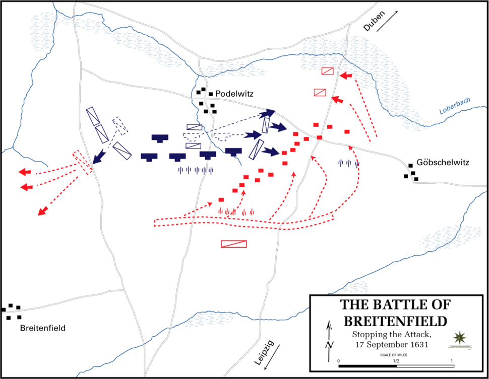 Battle of Breitenfeld - Stopping the attack, 17 September 1631