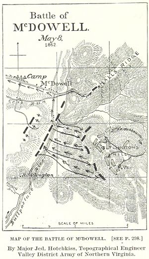 Battle of McDowell - A map of the battle by Jedediah Hotchkiss