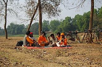 Arts of West Bengal - Baul singers in performance at Santiniketan, India.