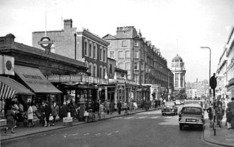 Bayswater tube station - Exterior view in 1961