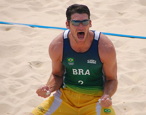 Beach volley at the Beijing Olympics - Brazilian Semi-final - Fabio Luiz