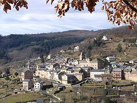 A general view of Saint-Beauzély