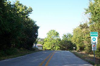 Beaver, Arkansas - West entrance on Highway 187 to Beaver