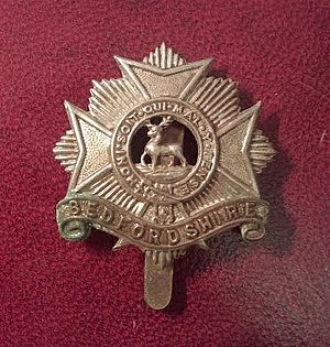 Bedfordshire and Hertfordshire Regiment - Badge of the Bedfordshire Regiment (c. 1914–1918)