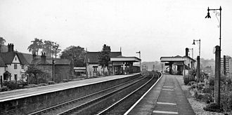 Beeston, Cheshire - View of Beeston Castle and Tarporley Station in 1961
